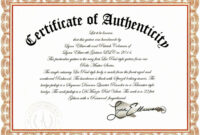 Sample Certificate Of Authenticity Photography Best Of with Certificate Of Authenticity Template