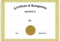 Sample Certificate Of Recognition Templates – Sample Certificate for Sample Certificate Of Recognition Template