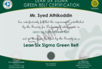 Sample Certificates – Lean Six Sigma India throughout Green Belt Certificate Template