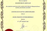 Sample Certificates – Mamsa inside Certificate Of Authorization Template