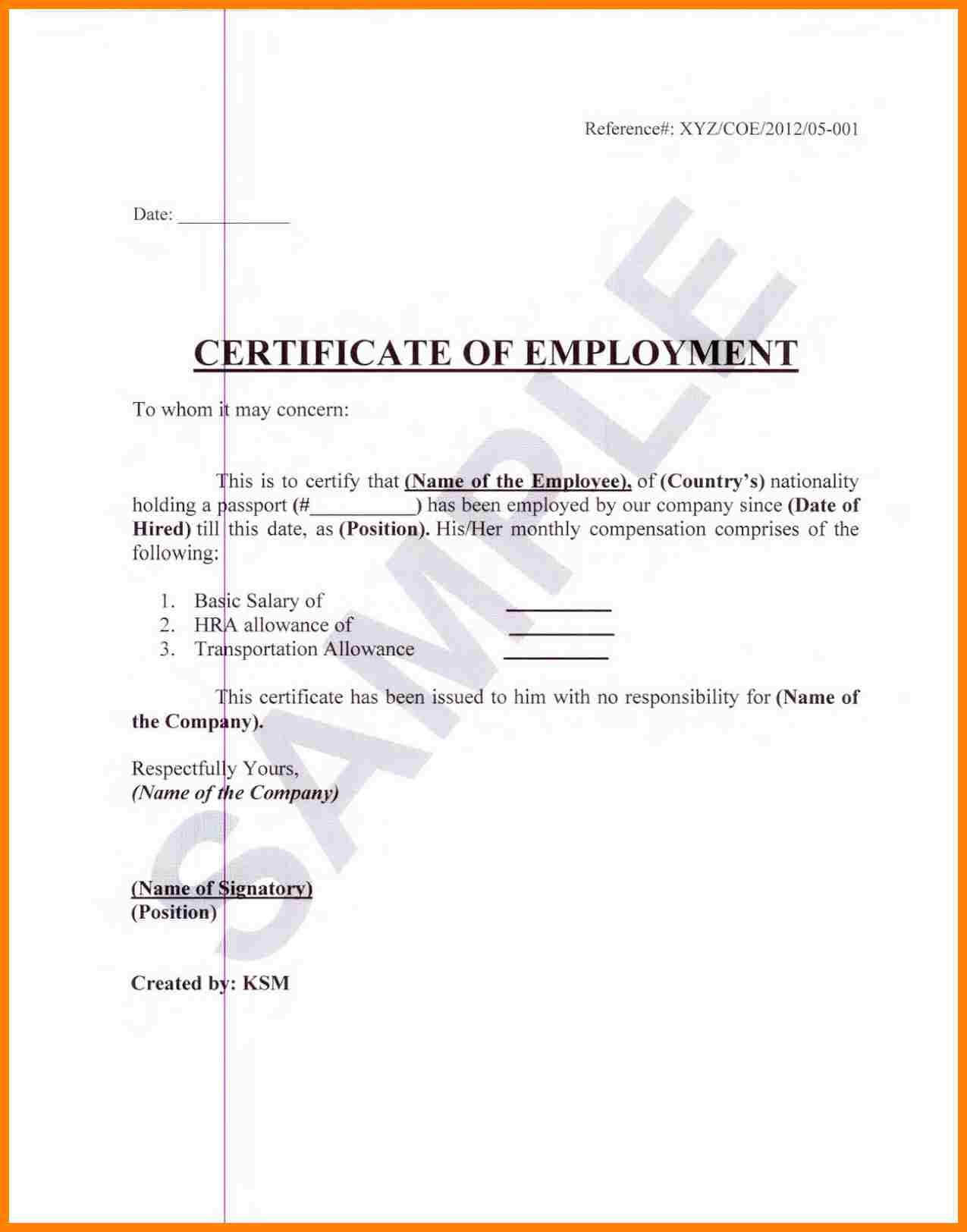 Sample Certification Employment Certificate Tugon Med Clinic Throughout Certificate Of Employment Template