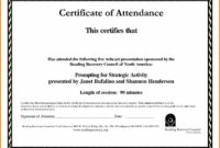 Sample Computer Course Completion Certificate Fres Beautiful regarding Attendance Certificate Template Word