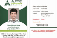 Sample Id Card Format – Forza.mbiconsultingltd for Sample Of Id Card Template