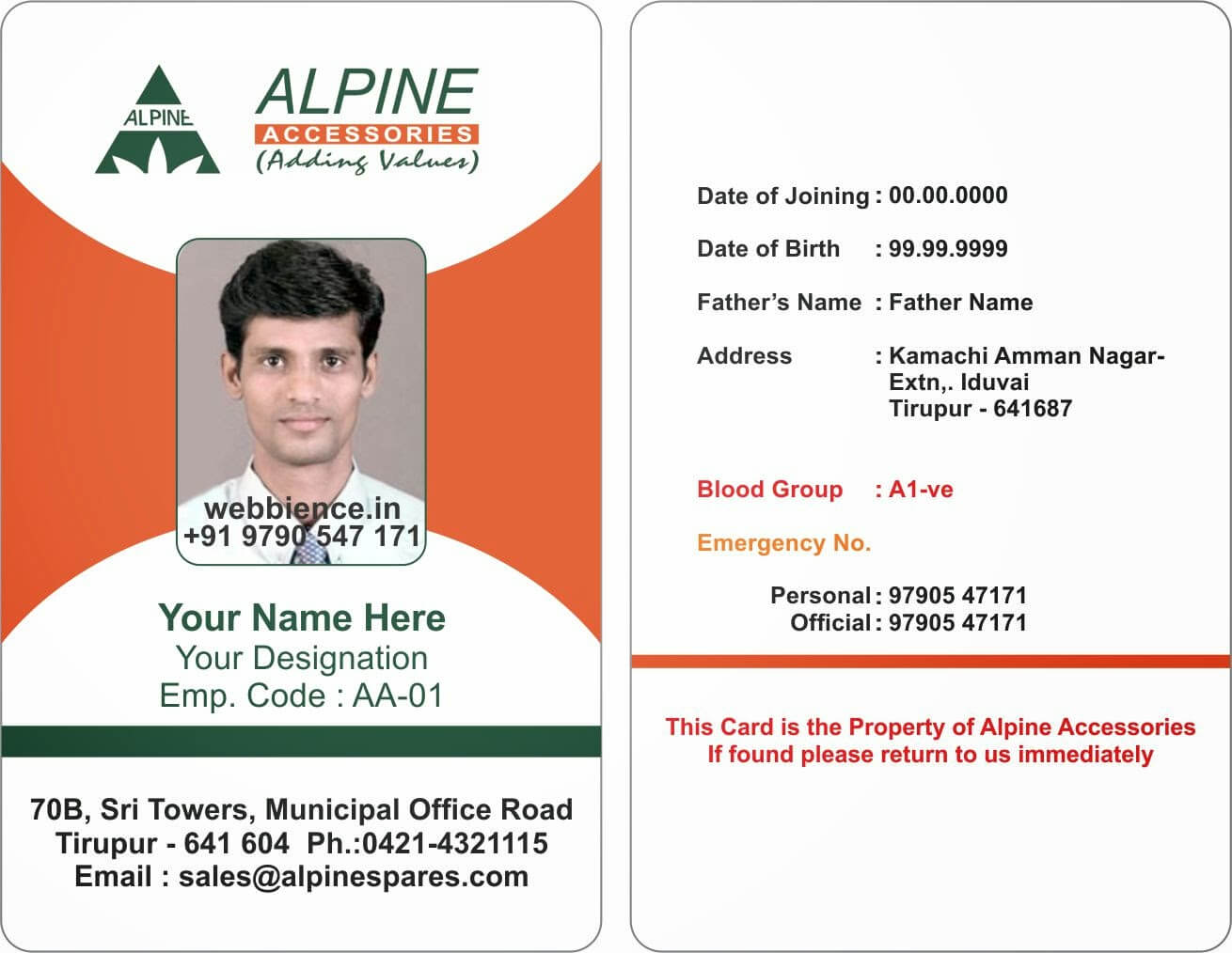 Sample Id Card Format - Forza.mbiconsultingltd Inside Sample Of Id Card Template