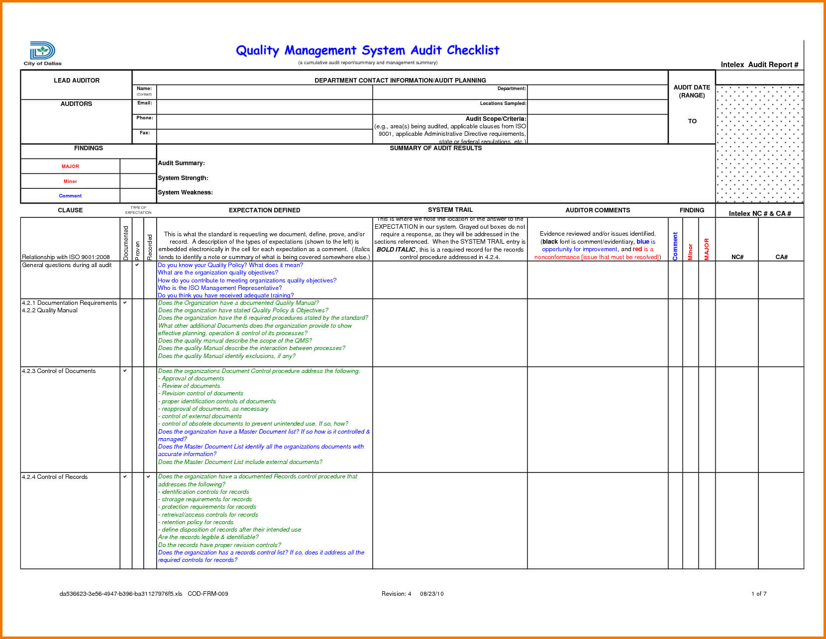 Sample Internal Audit Report Kpmg And Audit Findings Inside Sample Hr Audit Report Template