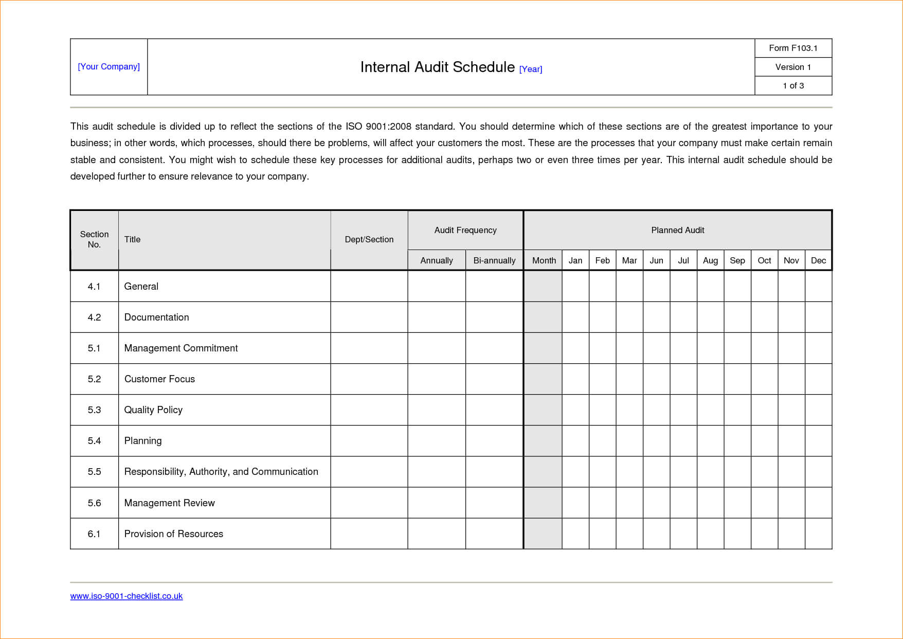 Sample Internal Audit Report Template Call Center Floor Regarding Internal Audit Report Template Iso 9001