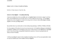 Sample Letter Inviting To Disciplinary Meeting | Templates At inside Investigation Report Template Disciplinary Hearing