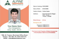 Sample Of Id Card Template – Zimer.bwong.co in Sample Of Id Card Template