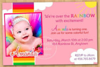 Sample Of Invitation Card For 1St Birthday Inspirationalnew pertaining to First Birthday Invitation Card Template