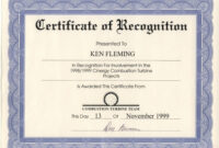 Sample Of Recognition Award – Forza.mbiconsultingltd regarding Long Service Certificate Template Sample