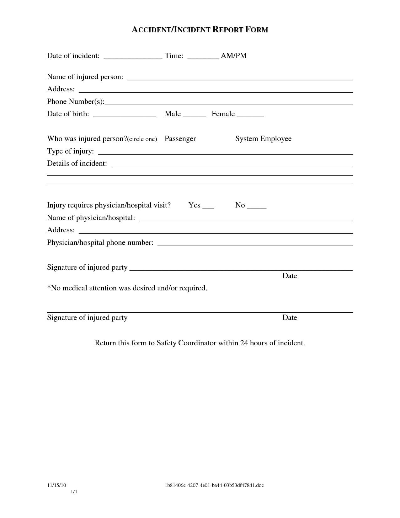 Sample Police Incident Report Template Images – Police Pertaining To Incident Report Form Template Word
