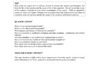 Sample Questions For Expert Witness Intended For Expert Witness Report Template