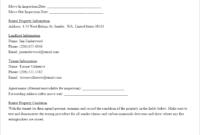 Sample Rental Inspection Report | Report Template, Being A regarding Home Inspection Report Template Free