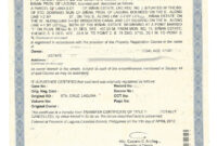 Sample Transfer Certificate Of Title Of A Parcel Of Land with Certificate Of Ownership Template