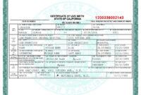 San Francisco Birth Certificate Template | Psd | Birth throughout Birth Certificate Fake Template