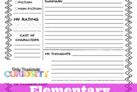 Sandwich Book Report Printout Throughout Sandwich Book Report Printable Template