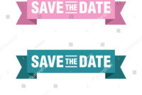 Save Date Banner Vector Template Illustration Stock Vector regarding Save The Date Banner Template