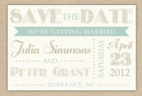 Save The Date Cards Templates For Weddings | Save The Date within Save The Date Cards Templates