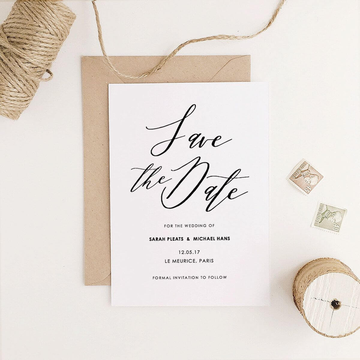 Save The Date Template, Printable Save The Date, Rustic Within Save The Date Template Word