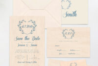 Save The Date Template Printed On Real Thin Wood, Wedding with Place Card Size Template