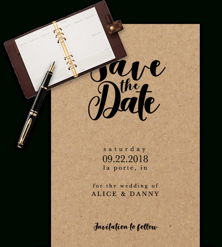 Save The Date Templates For Word [100% Free Download] In Save The Date Template Word