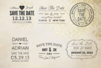 Save The Date Word Overlays Vol.1 | 7Thavenuedesign For Save The Date Templates Word