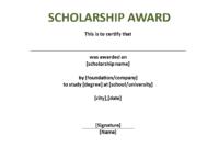 Scholarship Award Certificate Template – Download This within Scholarship Certificate Template