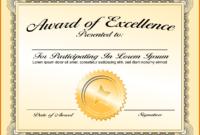 Scholarship Award Certificate Template Word | Free with Scholarship Certificate Template Word