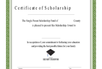 Scholarship Certificate – 3 Free Templates In Pdf, Word with regard to Scholarship Certificate Template
