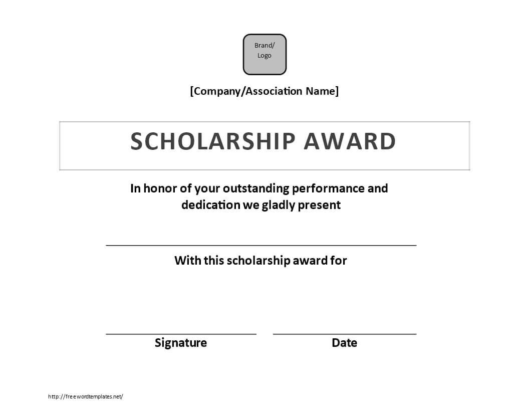 Scholarship Certificate Award | Templates At Inside Scholarship Certificate Template