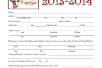 School Application Forms Templates – Zimer.bwong.co inside School Registration Form Template Word