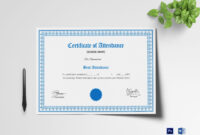School Attendance Certificate Template for Mock Certificate Template