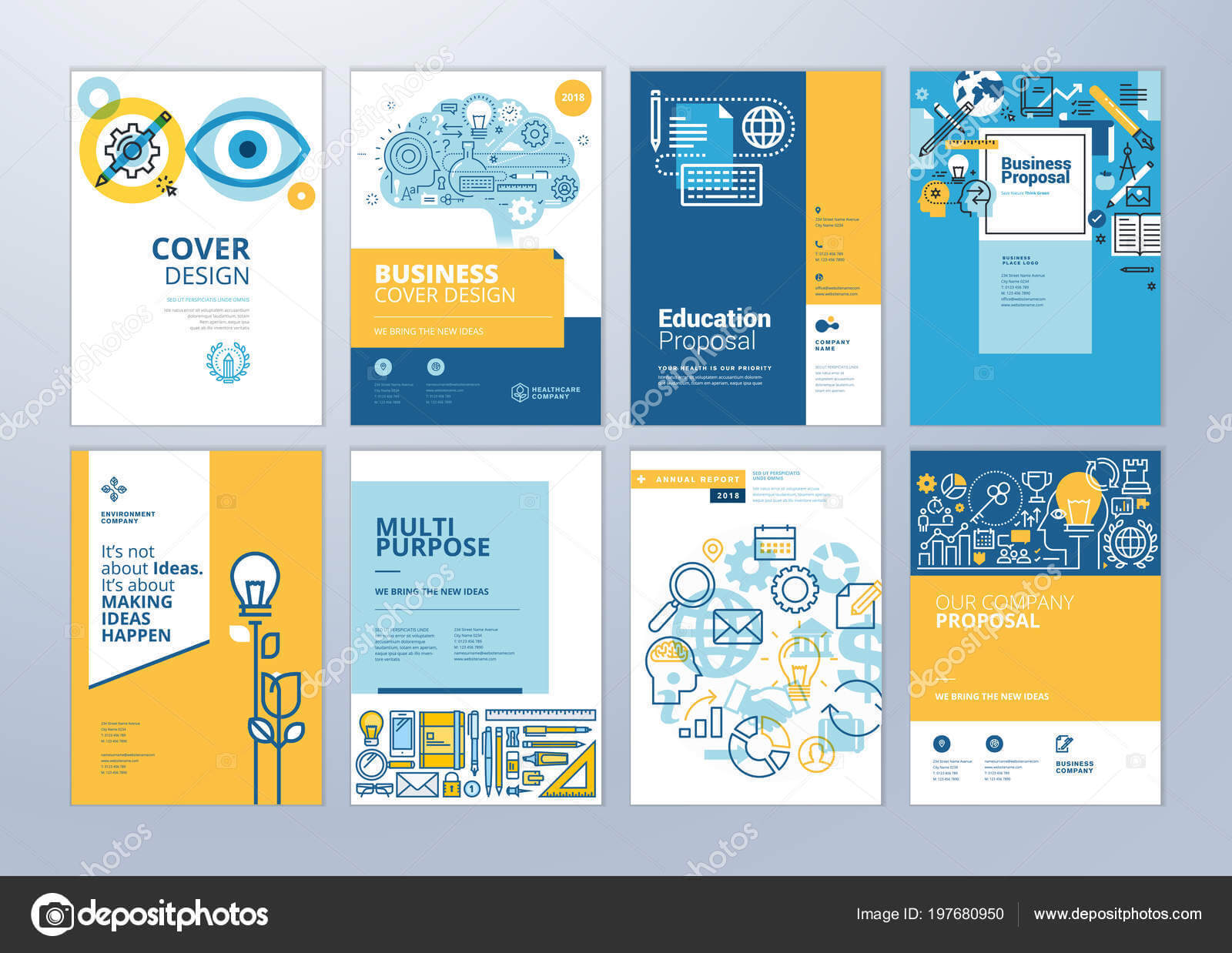 School Brochure Designs | Set Brochure Design Templates With Regard To School Brochure Design Templates