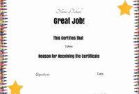 School Certificates inside Free School Certificate Templates