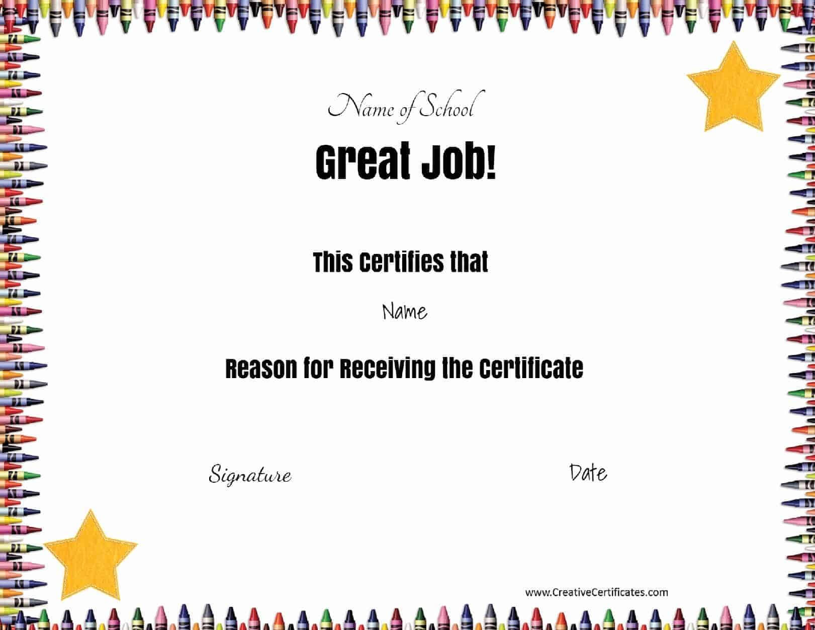 School Certificates Intended For Classroom Certificates Templates