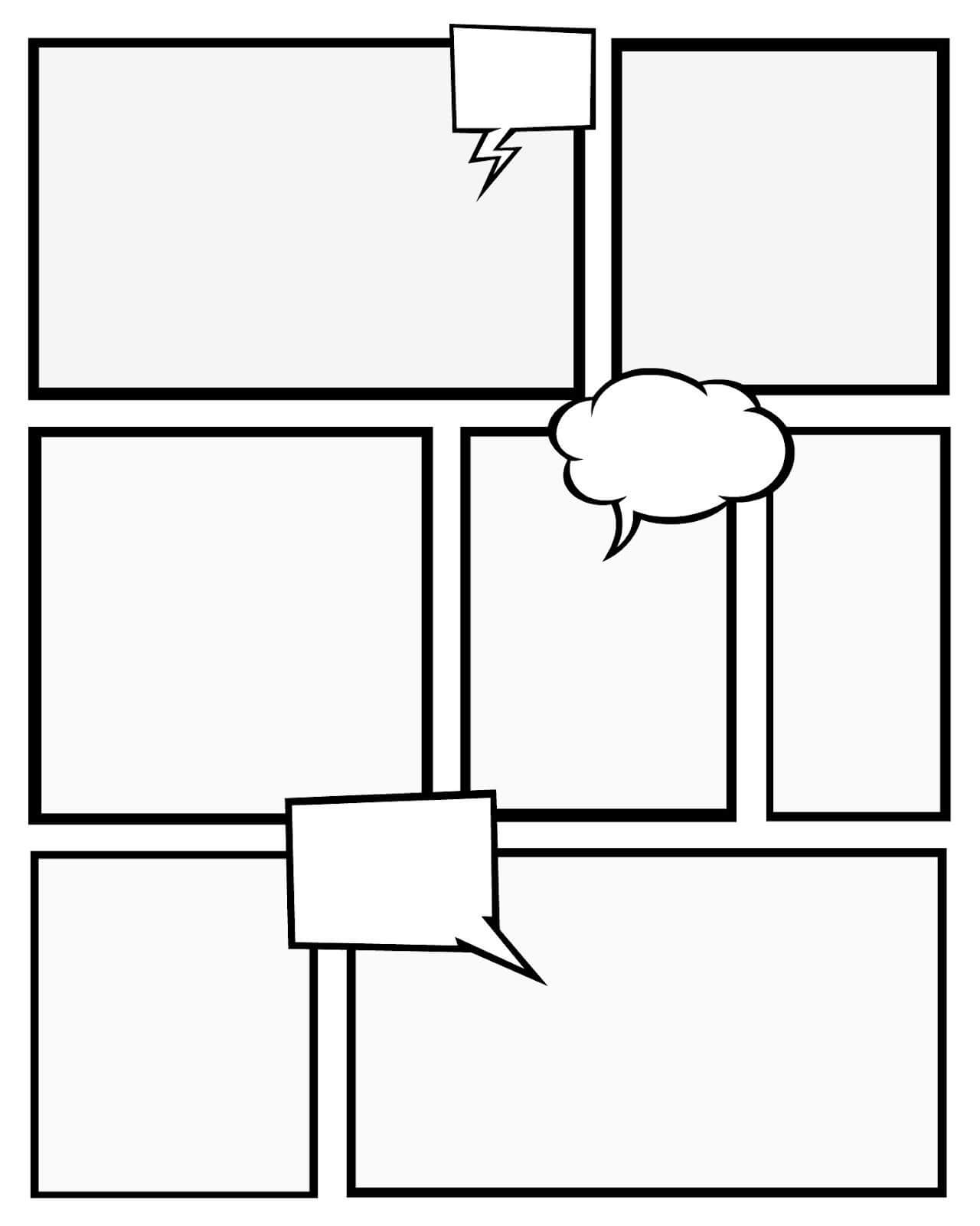 School Hasn't Started Yet In Our House, But The Kids Have Pertaining To Printable Blank Comic Strip Template For Kids