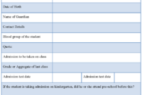 School Registration Form : Sample Forms with regard to School Registration Form Template Word
