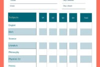 School Report Card Template – Visme with Report Card Format Template