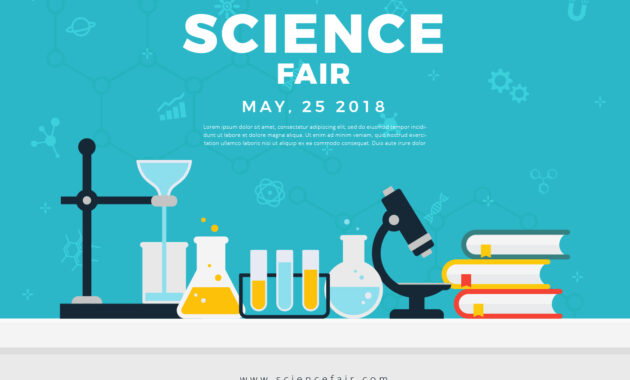 Science Fair Poster Banner - Download Free Vectors, Clipart with regard to Science Fair Banner Template