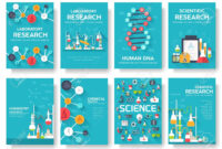 Science Information Cards Set. Laboratory Template Of Flyear,.. regarding Science Fair Banner Template