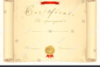 Scroll Certificate Completion Template Sample Background inside Scroll Certificate Templates