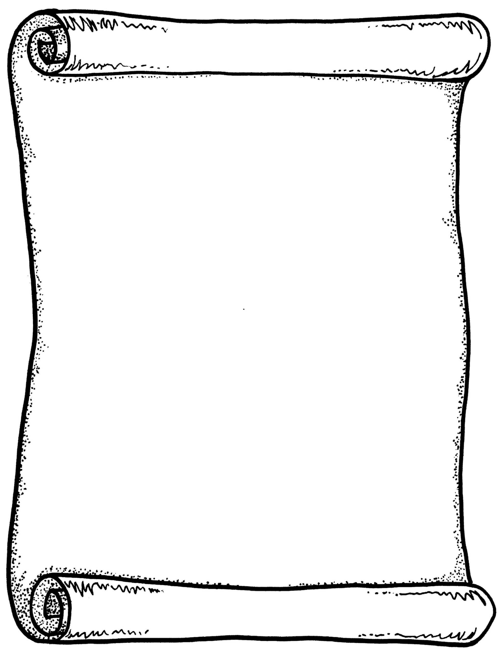 Scroll Drawing Template   Free Download Best Scroll Drawing With Regard To Certificate Scroll Template