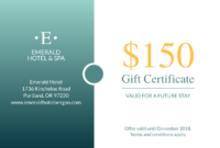 Seaside Hotel Gift Certificate Template | Gift Certificate for Company Gift Certificate Template