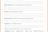 Second Grade Book Report Template Book Report Form Grades 3 pertaining to Book Report Template Middle School