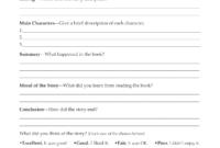 Second Grade Book Report Template | Book Report Form Grades in Book Report Template 5Th Grade