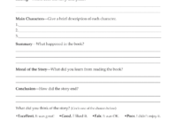Second Grade Book Report Template | Book Report Form Grades throughout 4Th Grade Book Report Template