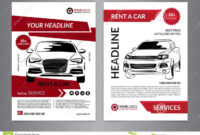 Set A4 Rent A Car Business Flyer Template. Auto Service within Automotive Gift Certificate Template