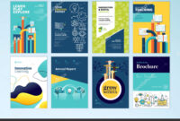 Set Brochure Design Templates Subject Education School regarding School Brochure Design Templates