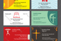 Set Christian Business Cards For The Church in Christian Business Cards Templates Free