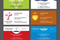 Set Christian Business Cards For The Church inside Christian Business Cards Templates Free
